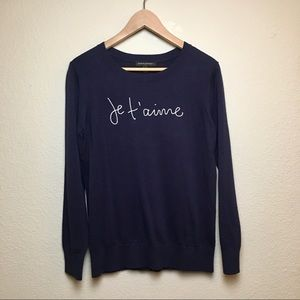 Banana Republic Navy Je T'aime Sweater